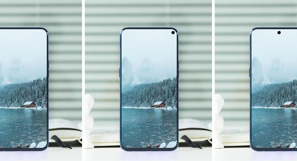 Smartphone hole schermo